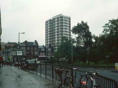 View of Dixon Clark Court from Holloway Road side of Highbury Island