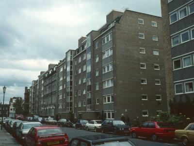 View of blocks on Eastern side of Elm Park Gardens