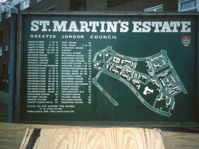 Map of St Martin's Estate