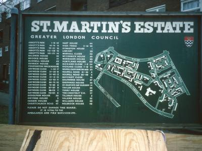 Map of St Martin's Estate