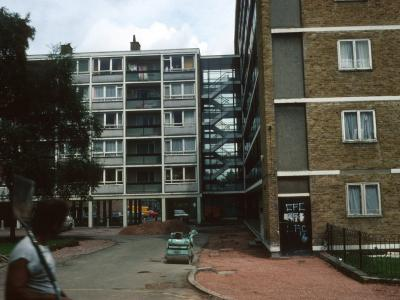 View of one 8-storey block