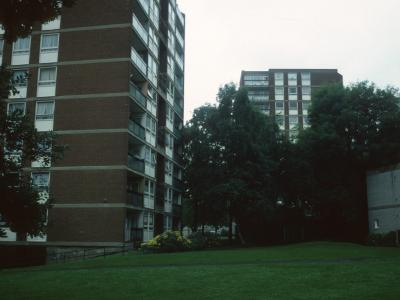 View of two 10-storey blocks