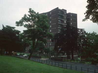 View of 11-storey blocks at Dacres Road