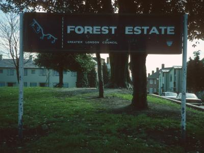 Forest Estate map and sign