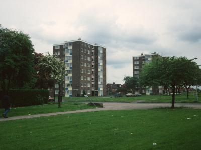 View of both blocks in Stroud Green Gardens