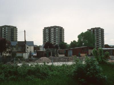 View of 11-storey blocks on Morland Road