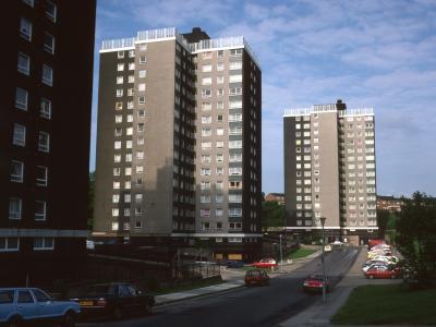 View of 16-storey blocks on Larner Road Estate