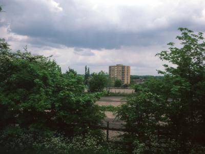 View of 11-storey block on Ramsden Estate