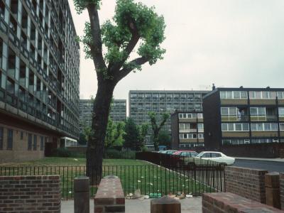 View of 11-storey blocks in Silwood Estate