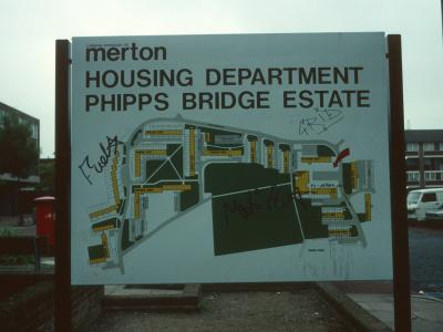 Site plan of Phipps Bridge Estate