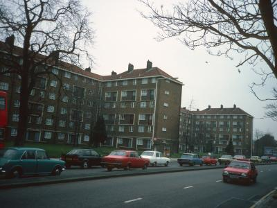 View of Fenning Court and Baron Court from London Road