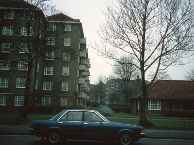 View of Glebe Court blocks from London Road