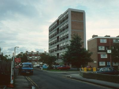 View of 11-storey block on Acre Road