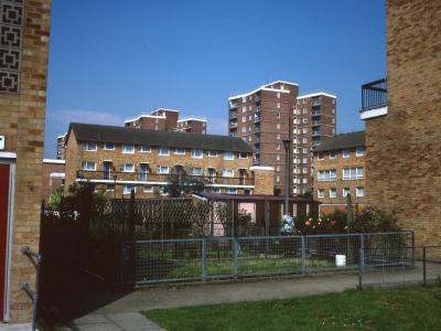 View of 12-storey blocks