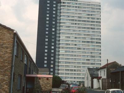 View of 22-storey block at Carpenters Road