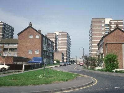 View of 11-storey blocks in Upper Brentwood