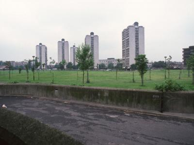 View of 18-storey blocks from Bolton Crescent