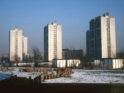 View of 18-storey blocks