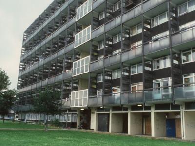View of 11-storey block
