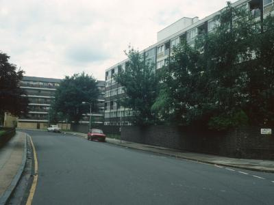 View of 6-storey block with Edwin House in background