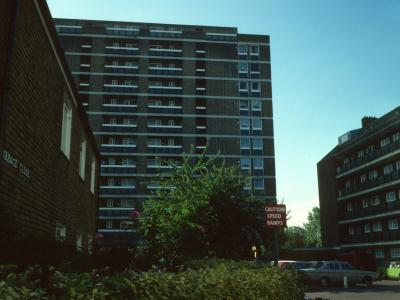 View of Nashe House from Burbage Close