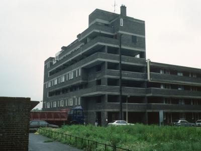 View of 7-storey block from Kinglake Street