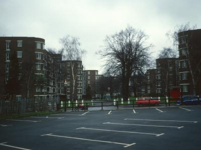 View of Ruskin Park House from Denmark Hill