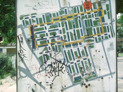 Map of North Peckham redevelopment