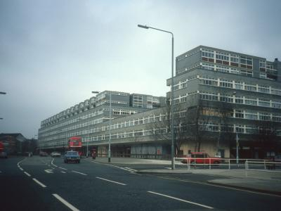 View of 7-storey block on Peckham High Street