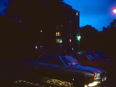View of 7-storey blocks at night