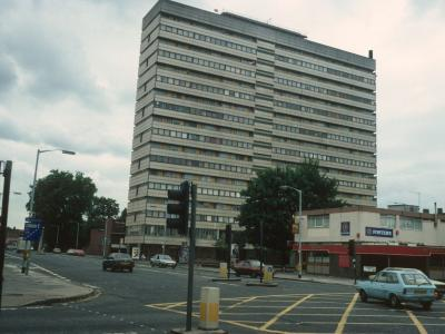 View of Castlemead from from intersection of Camberwell Road and Wyndham Road