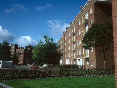 View of 6-storey development in Denmark Hill Estate