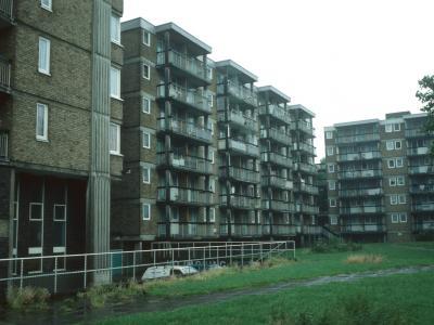 View of 7-storey par of Tissington Court