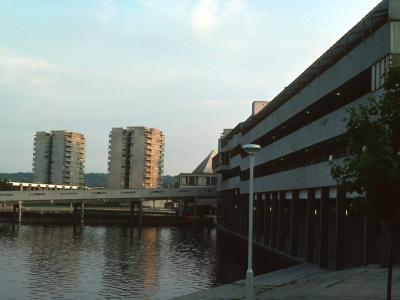 View of 13-storey blocks in Thamesmead