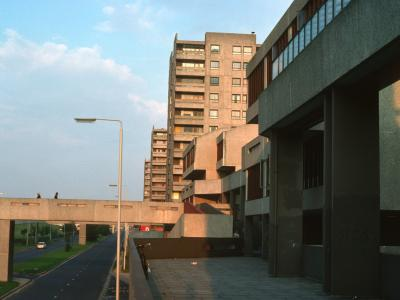 view of 13-storey block in Thamesmead
