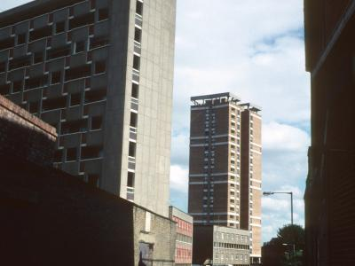View of George Loveless House from Diss Street/Stamp Place with Sivill House in background