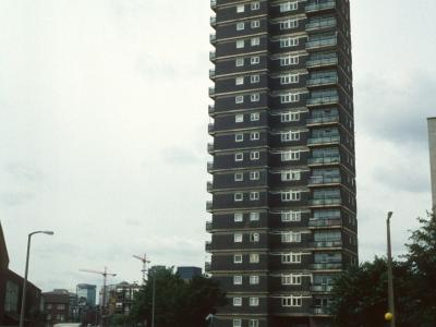 View of Pauline House from corner of Vallance Road andOld Montague Street