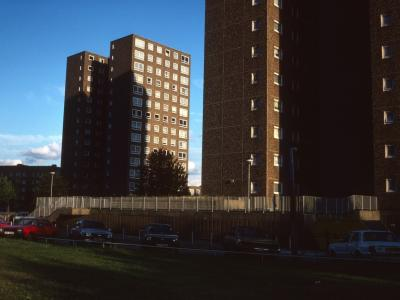 View of two 14-storey blocks
