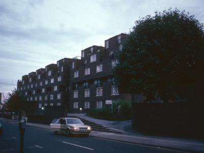 View of 7-storey block from Dellow Street