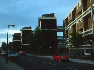 View of Gale Street blocks and Mollis House