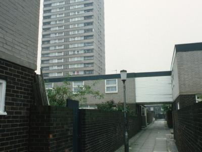 View of one 22-storey block