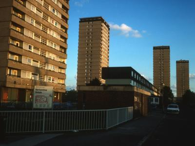 View of all four 22-storey blocks