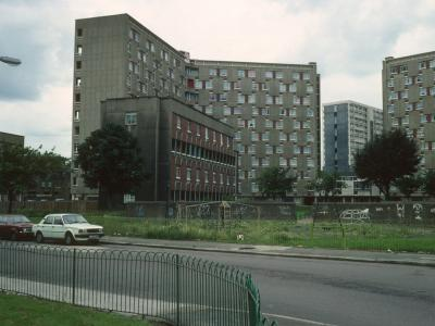 View of both blocks with Fellows Court in background