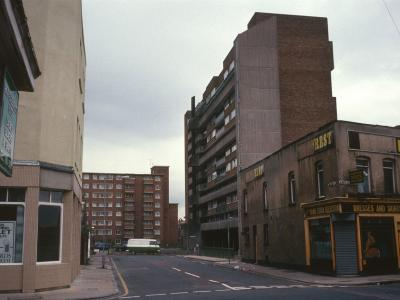 View of Kerry House in background with Siege House in foreground