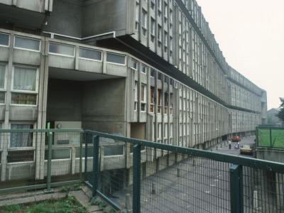 View of 10-storey block from Cotton Street