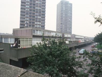 View of two blocks on Crossways Estate
