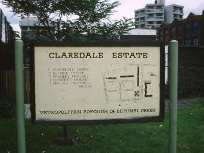 Map of Claredale Estate with Keeling House in background