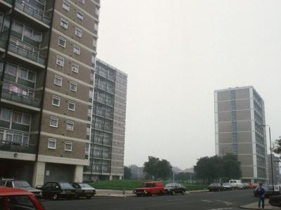 View of all three 7-storey blocks