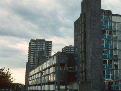 View of 9-storey block on Cathall Road
