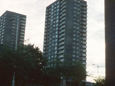 View of Redwood Tower and hornbeam Tower
